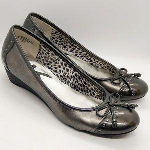 Anne Klein Patten Leather Wedge Heel Shoes 8.5